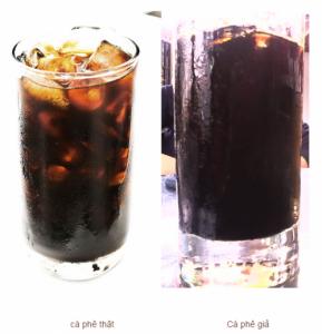 Màu cà phê giả