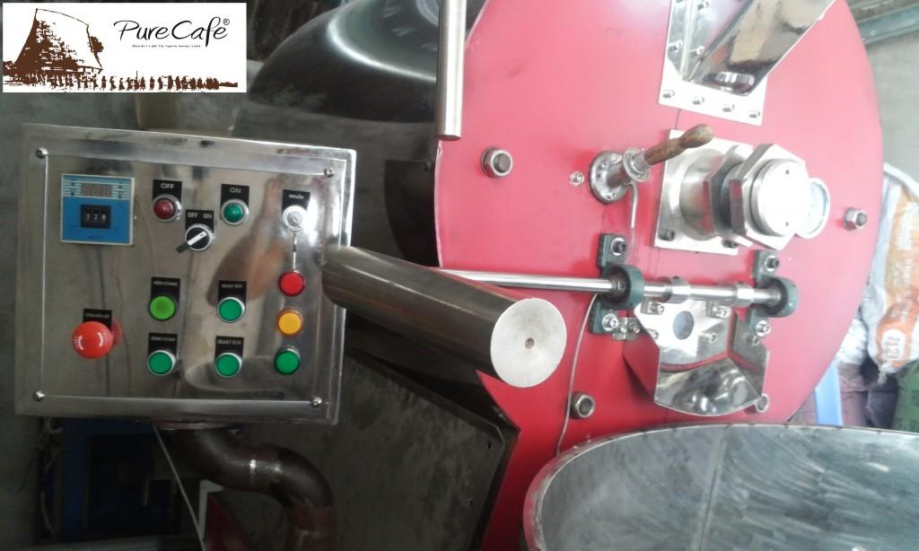 Máy rang cà phê đỏ - Mạnh mẽ