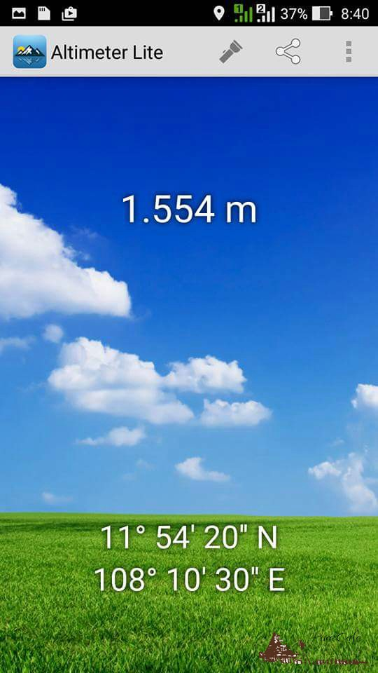 Chiều cao hơn 1500m