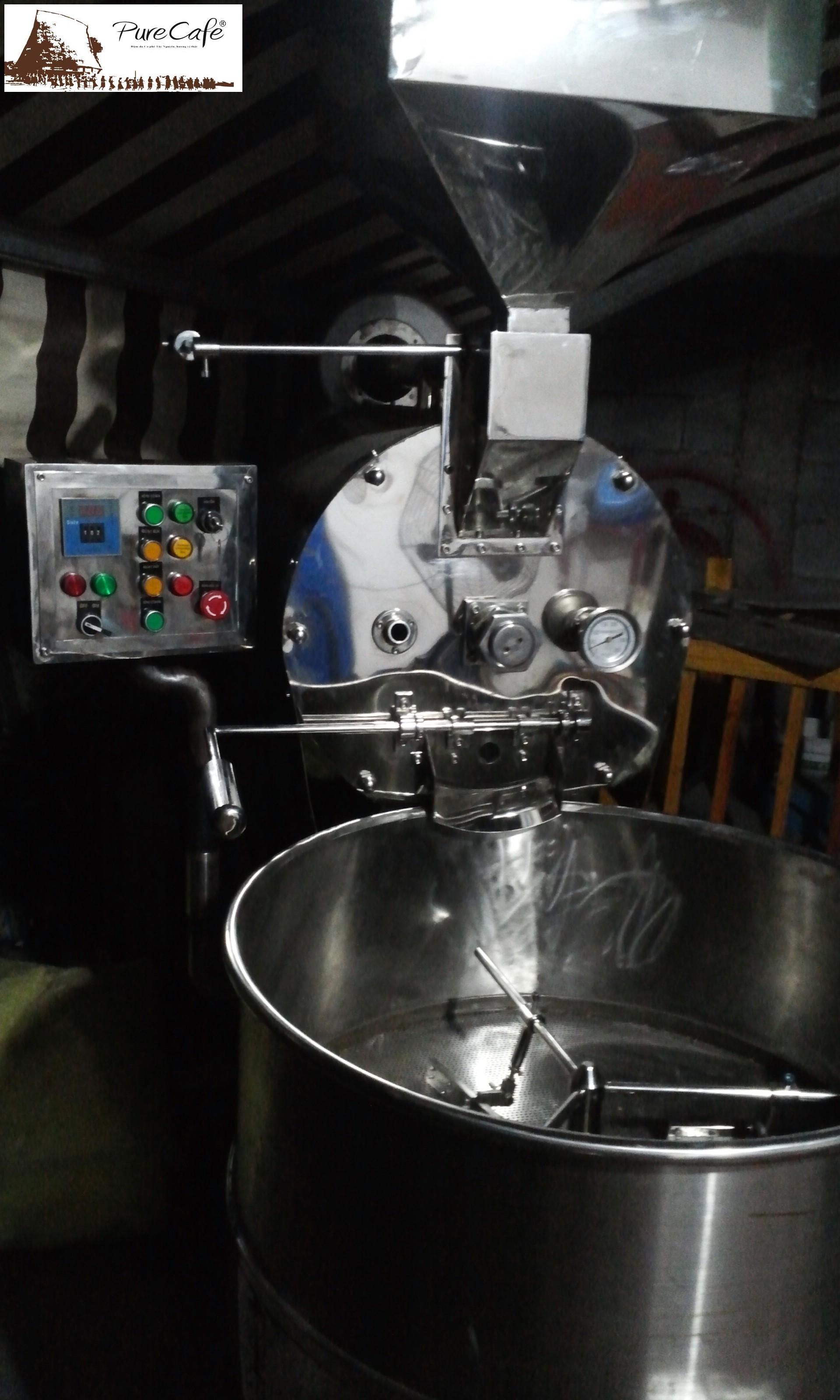 Máy rang cà phê 15kg/mẻ