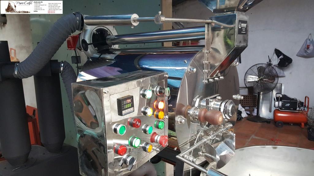 Máy rang cà phê  công nghệ mới