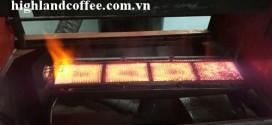 Máy rang cà phê bằng bếp ceramic hồng ngoại