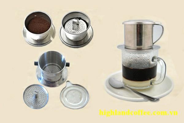 Tóm tắt các bước pha cà phê phin