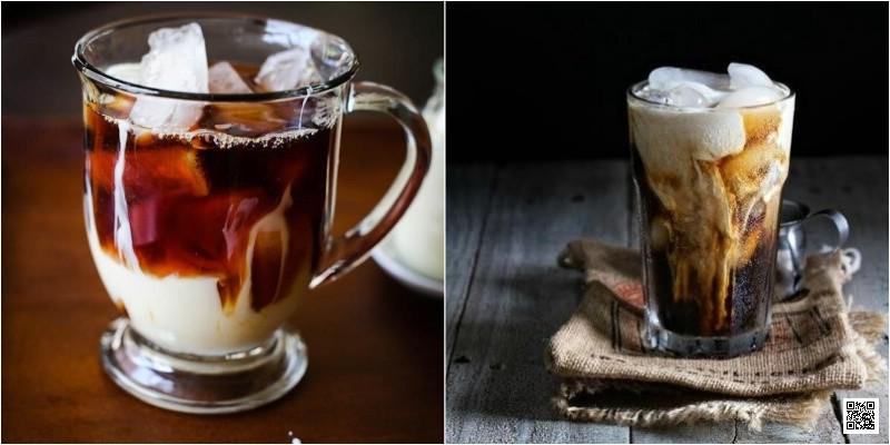 Cà phê sữa tạo hình bằng chính sữa đặc