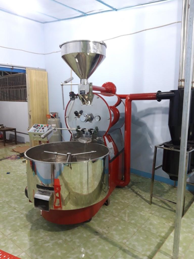 Máy rang cà phê sau khi lắp ráp hoàn thiện
